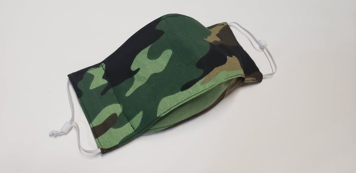 Green Camoflage-face, mask, cover, green, camouflage