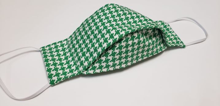 Green houndstooth-