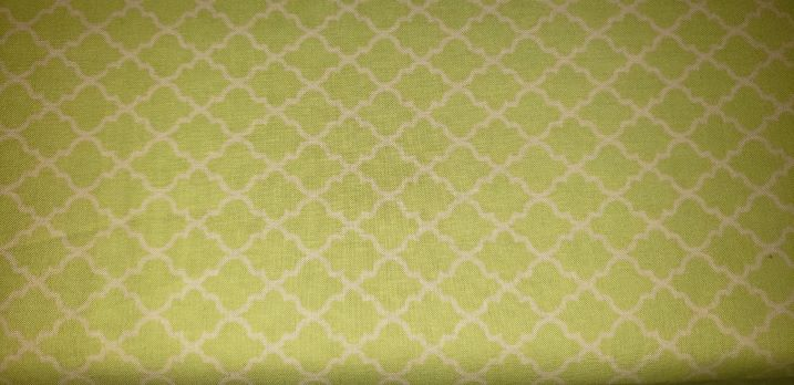 lime green quatrefoil-