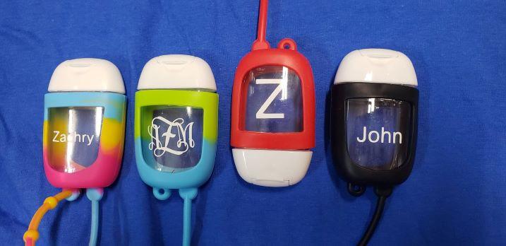 Refillable sanitizer bottles-