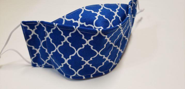 Quatrefoil -Royal Blue-