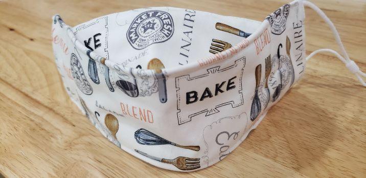 Baking on white-
