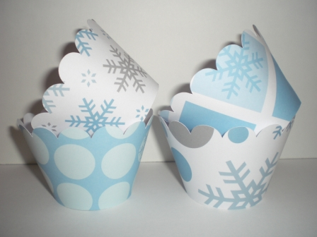 Winter Cupcake Wrappers-cupcake, wrappers, party, paper