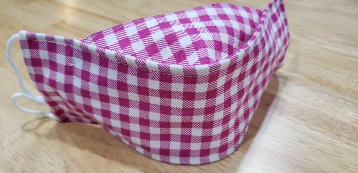 Hot pink check-