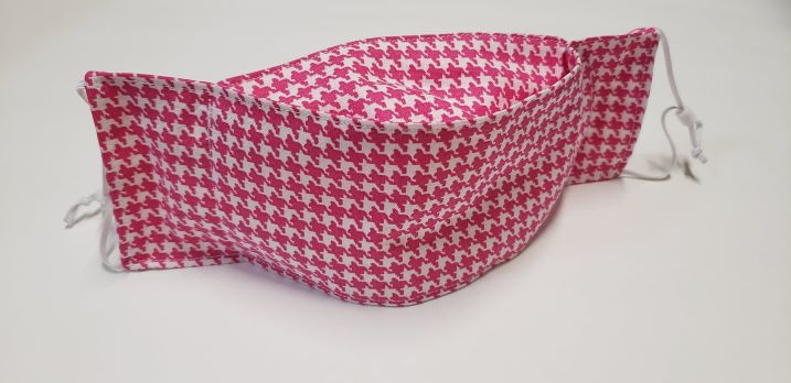 Hot pink houndstooth-