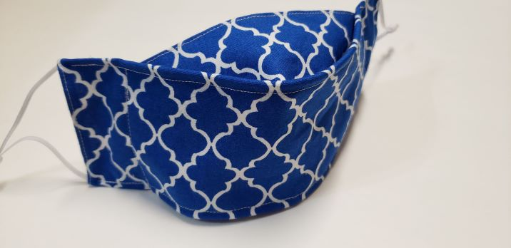 Quatrefoil -Royal Blue-